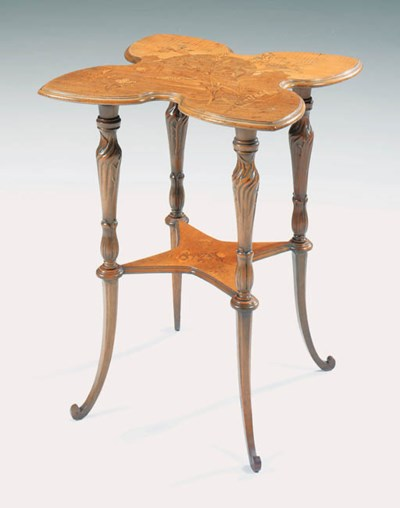 A marquetry table