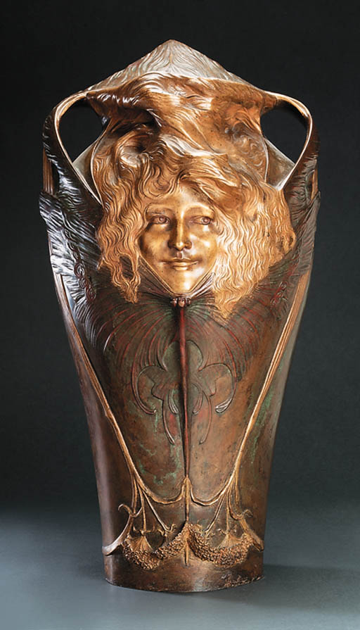 A Large Bronze Vase