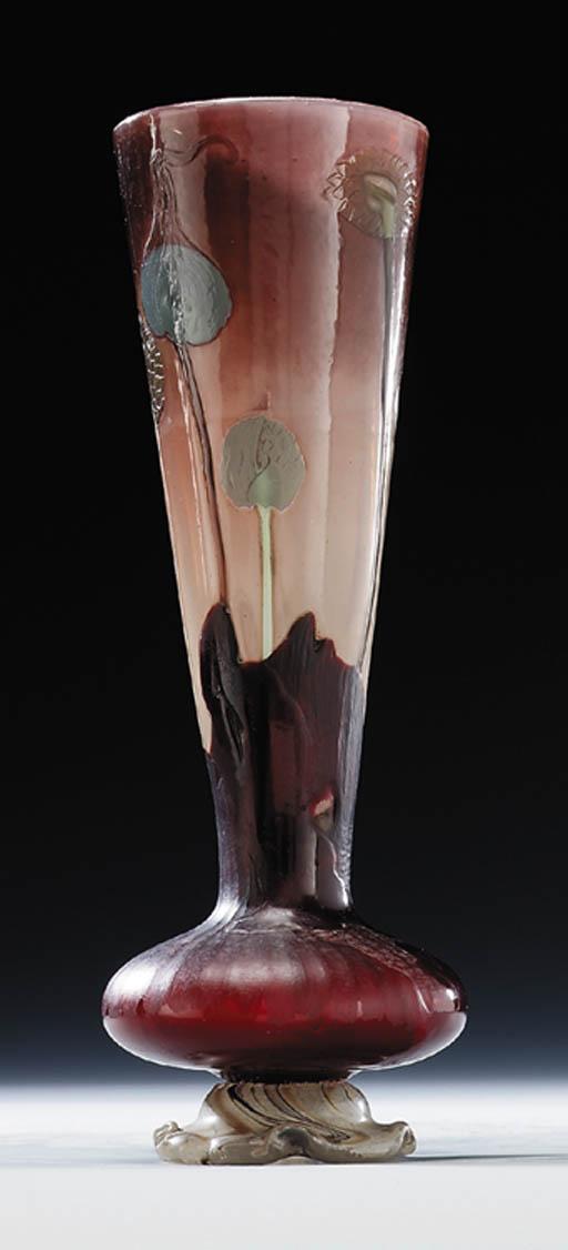 A carved 'marqueterie-sur-verr