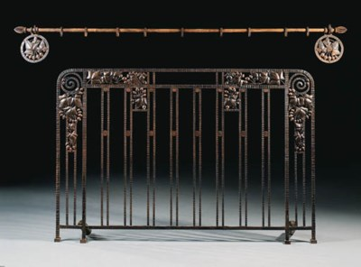 A wrought iron Bed