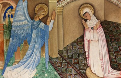 'The Annunciation', an incised