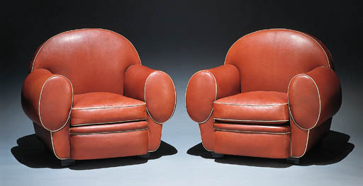 A PAIR OF 'ELEPHANT' ARMCHAIRS