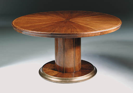 A walnut centre table