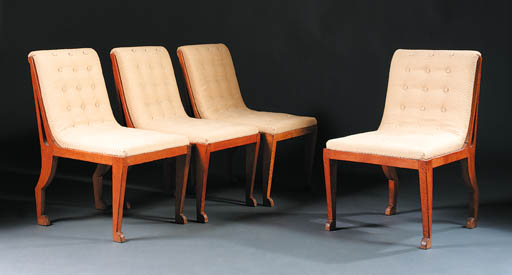 A set of four side chairs