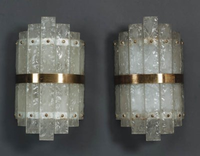 Four Glass Wall Lights