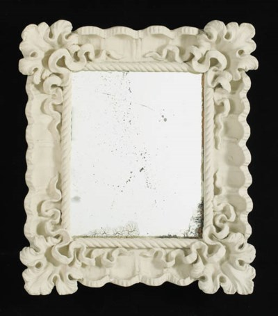 A plaster mirror frame