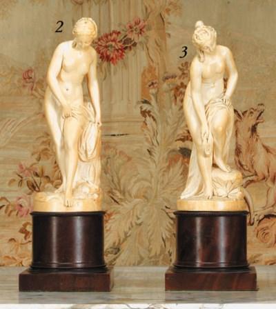 A carved ivory figure of Venus