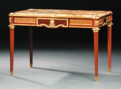 A French ormolu-mounted mahoga