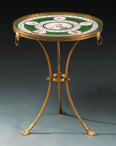 An ormolu-mounted Sevres-patte