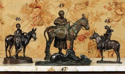 A French bronze group of a you