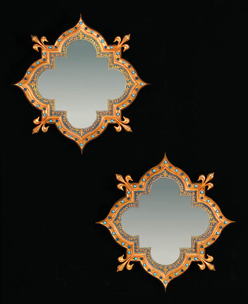 A pair of French ormolu, ename