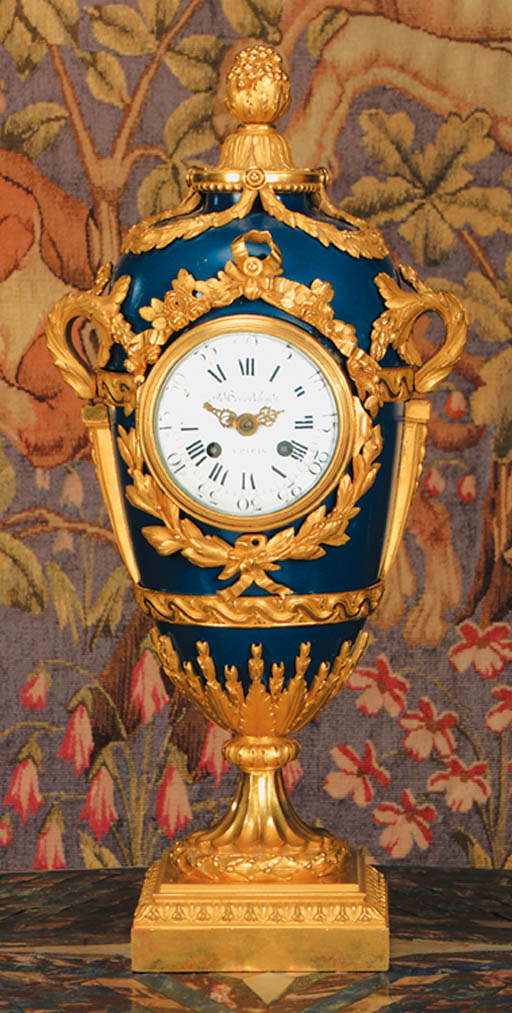 A French ormolu-mounted blued