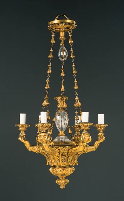 A French ormolu and rock-cryst