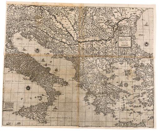 GASTALDI, Giacomo (c.1500-c.1565, cartographer) and Fabio LICINI (1521-1565, engraver). Geographia particolare d'una gran parte dell' Europa. Rome: Antonio Lafreri, 1560.