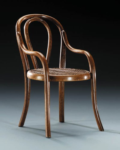 A Bentwood Doll's Chair, model