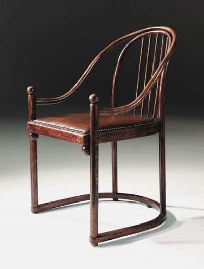 A beech armchair