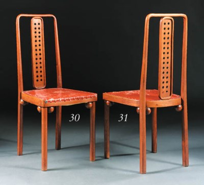 A bentwood side chair