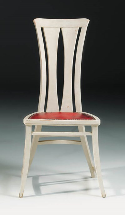 A white painted side chair
