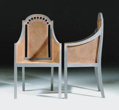 A pair of Omega Workshops grey
