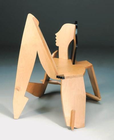 'Odalisque', a birch and plywo