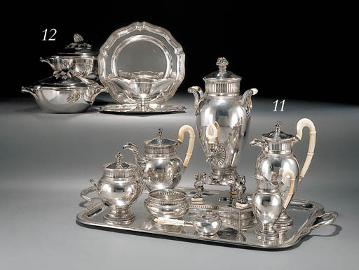 A French silver and silver-pla