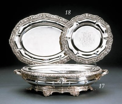 A French silver meat-dish and