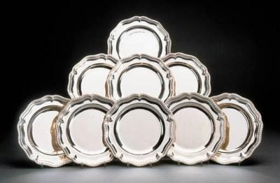 A set of twenty-four silver di