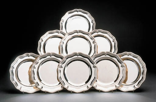 A set of twenty-four silver di