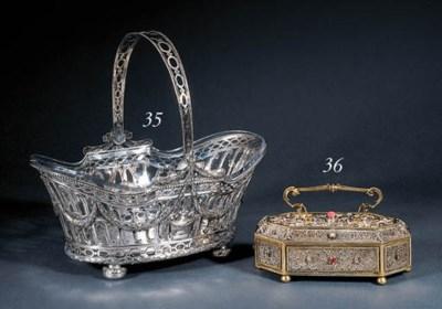 A German silver basket