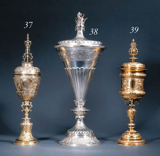 A silver-gilt steeple cup