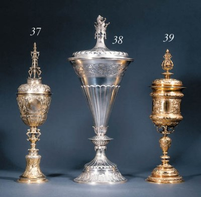 A gold cup and cover
