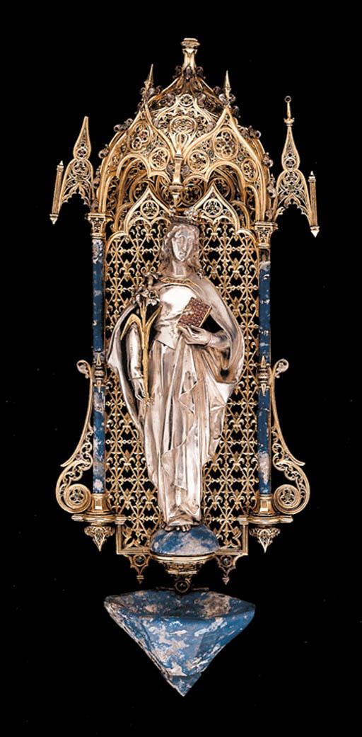 A French silver, silver-gilt a
