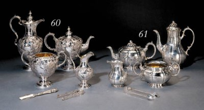A Victorian silver six-piece t