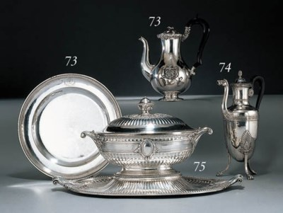 A French silver soup tureen, c