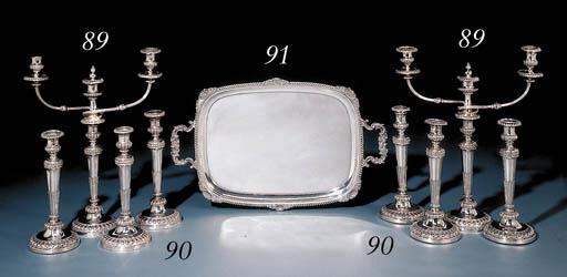 A silver tray