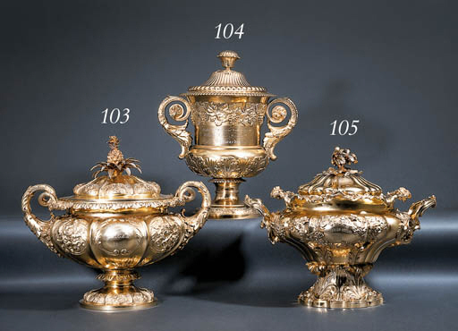 A George IV silver-gilt cup an