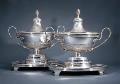 A pair of Danish soup-tureens,