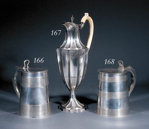 A George III silver coffee-jug