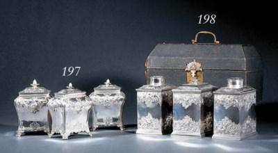 A pair George III silver tea-c