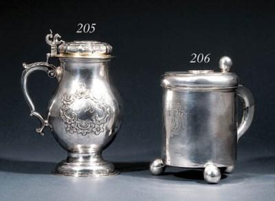 A Scandinavian silver tankard