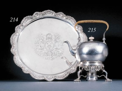 A George I silver salver