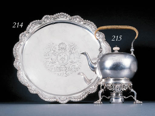 A George II silver tea-kettle,