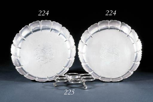 A pair of George II Irish silv