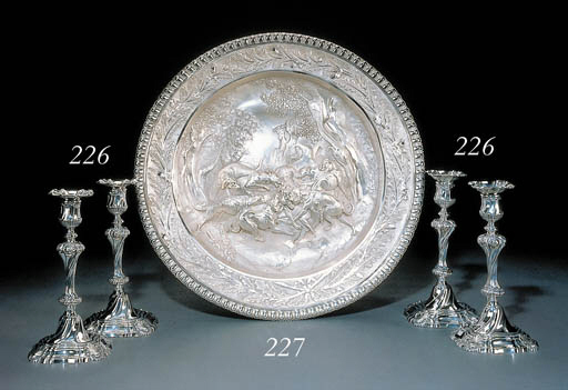 A George II silver sideboard d
