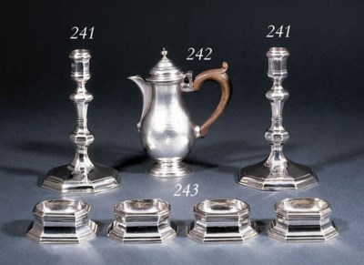 A set of four George I silver