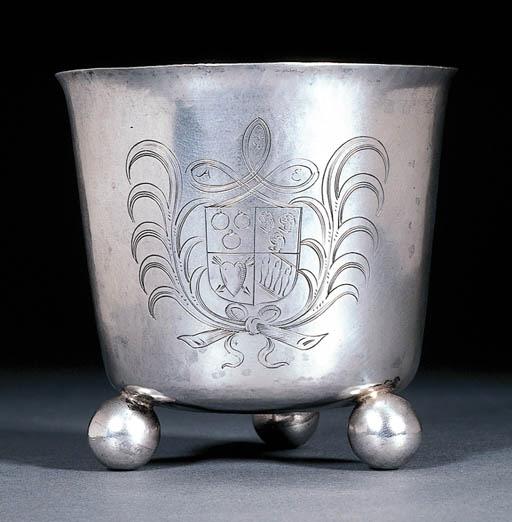 A rare Dutch silver beaker