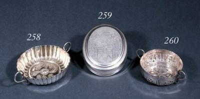 A Queen Anne silver tobacco bo