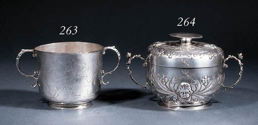 A Commonwealth silver porringe