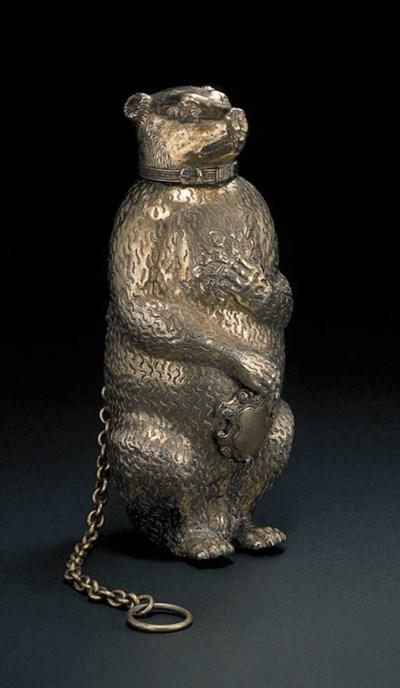 A German silver-gilt model of