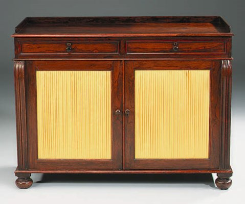 A REGENCY ROSEWOOD SIDE CABINE
